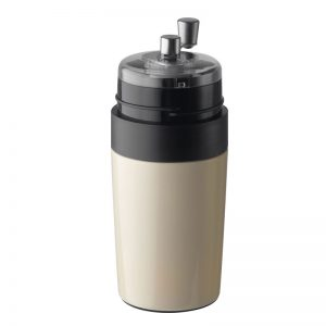 kubek z młynkiem do kawy